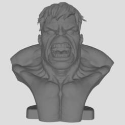 Hulk.JPG Download free STL file hulk bust • Template to 3D print, stl3dprints