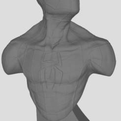Spiderman.JPG Download free STL file spiderman bust • 3D printer model, stl3dprints