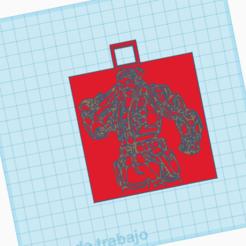 llavero breach.png Télécharger fichier STL gratuit llavero brise un valeureux porte-clés • Modèle à imprimer en 3D, cuentatinkercad