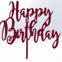 HappyB_2.png Download STL file Happy Birthday • Design to 3D print, cpccpalul