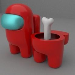 Among Us.jpg Descargar archivo STL entre nosotros • Diseño para la impresora 3D, speeddemon