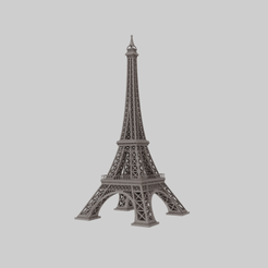 Render1.png Download free STL file Eiffer Tower • Template to 3D print, raiks