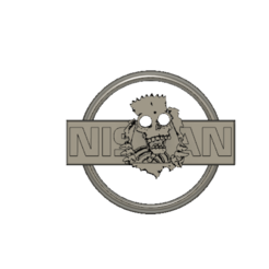 NissanBadgeRear_v3.png Download free STL file Nissan Badge Bart Simpson • 3D printer model, thaysayso