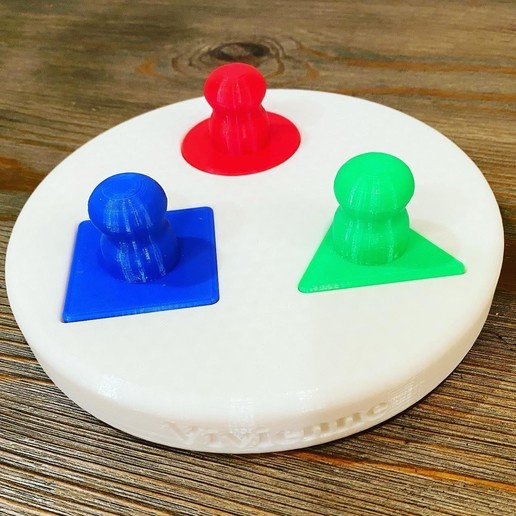Real Shape Sorting Toy.jpg Download STL file 4 Piece Shape Sorting Toy • 3D printer model, smart0586