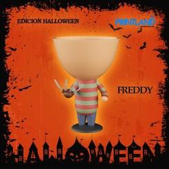 FREDDY.jpg Download STL file Robert Freddy Flowerpot Halloween Edition! • Template to 3D print, PrintLand