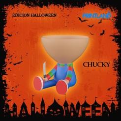 CHUCKY.jpg Download STL file Robert Chucky Pot Halloween Edition! • 3D printable design, PrintLand
