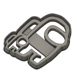 """Bebe.png Descargar archivo STL gratis Among Us cookie cutter """"crew member"""" • Plan para la impresión en 3D, Luzuriaga3d"""