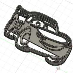 RAYO MCQUEEN.png Download STL file lightning mcqueen cookie cutter • 3D printing design, Luzuriaga3d