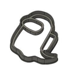 "Fantasma.png Descargar archivo STL gratis Among Us cookie cutter ""Ghost"" • Diseño para impresión en 3D, Luzuriaga3d"