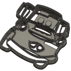 MATE.png Download STL file Tow Mater cookie cutter • 3D printing template, Luzuriaga3d