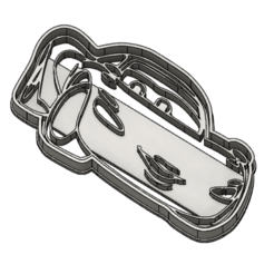 holley shiftwell.png Download STL file holley shiftwell cookie cutter • Model to 3D print, Luzuriaga3d