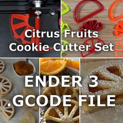 gcode.jpg Download STL file FORMINERIA CITRUS FRUITS COOKIE CUTTER - GCODE for ENDER3 • 3D printer template, formineria