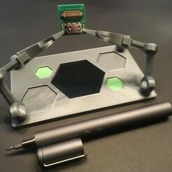 IMG-3905.JPG Download STL file HexaHand - Soldering helper / third hand with style • 3D printing design, yozz