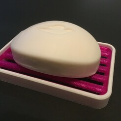 IMG-3674.JPG Download free STL file Soap holder - Simple 2-color soap dish • 3D printable template, yozz
