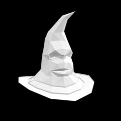 Captura de Pantalla 2020-10-02 a la(s) 9.50.40.png Télécharger fichier OBJ gratuit Chapeau Harry Potter Low Poly • Modèle pour imprimante 3D, Nyte