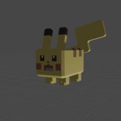 Captura de Pantalla 2020-10-25 a la(s) 22.59.34.png Download OBJ file Pikachu Low Poly • Object to 3D print, Nyte