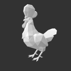 Captura de Pantalla 2020-10-01 a la(s) 18.23.12.png Télécharger fichier OBJ gratuit Zelda Cucco Low Poly • Modèle à imprimer en 3D, Nyte