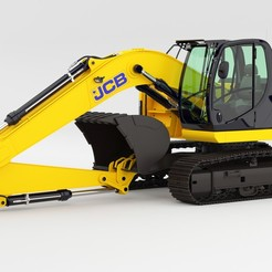 JCB-JZ255 EXCAVATOR 01.jpg Download STL file JCB-JZ255 Excavator rigged 3d model • 3D printing design, aliqadriart