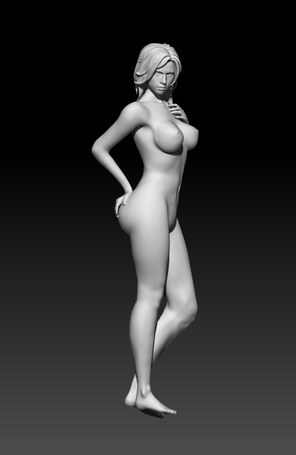 2.jpg Download STL file Fitgirl Sexy Posing • Template to 3D print, NSFW_Station
