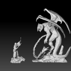 1.jpg Télécharger fichier STL Gandalf contre Balrog • Objet à imprimer en 3D, LiamMorgan