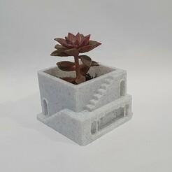 1.jpg Télécharger fichier STL gratuit Peinture en grotte Jardinière d'intérieur • Modèle pour impression 3D, Reamic
