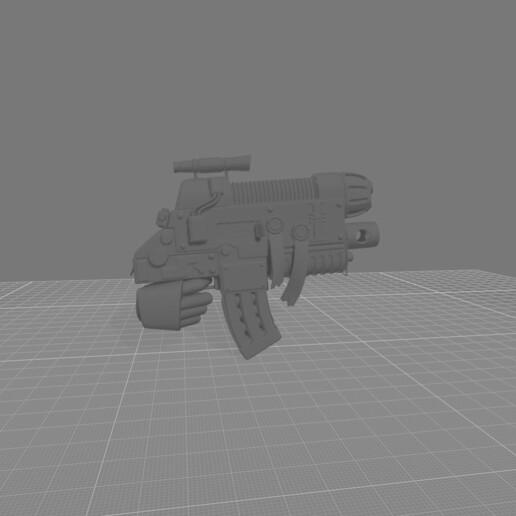 CombiBolter Plasma.jpg Download free STL file Destructive Toolbox of the Order of Alien Hunting Crusaders • 3D printer design, DropoutPraxis