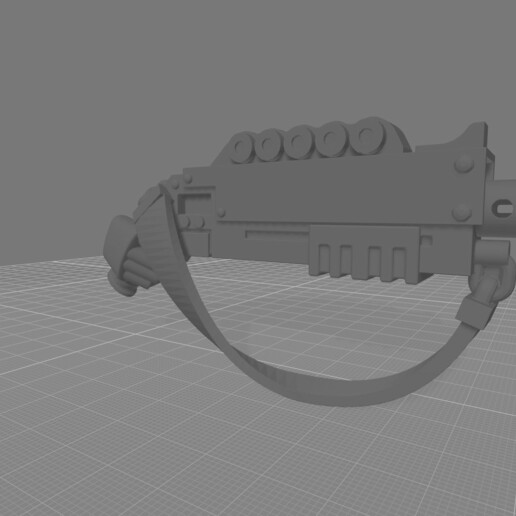 Shotgun with Sling hand.jpg Download free STL file Destructive Toolbox of the Order of Alien Hunting Crusaders • 3D printer design, DropoutPraxis