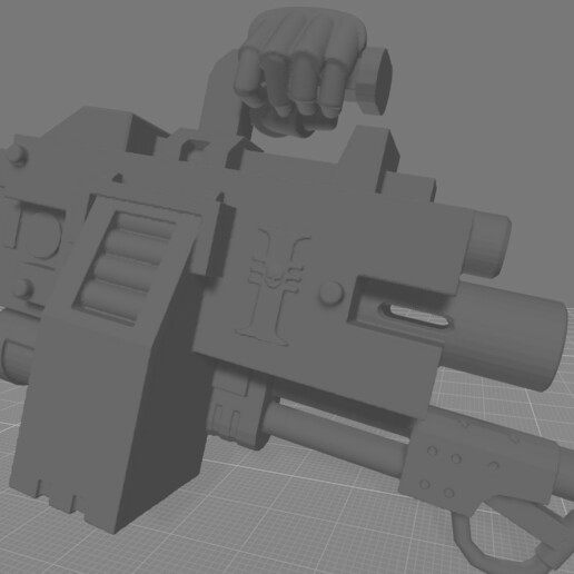 Infernus Heavy Bolter hand.jpg Download free STL file Destructive Toolbox of the Order of Alien Hunting Crusaders • 3D printer design, DropoutPraxis