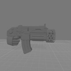 CombiBolter flamer.jpg Download free STL file Destructive Toolbox of the Order of Alien Hunting Crusaders • 3D printer design, DropoutPraxis