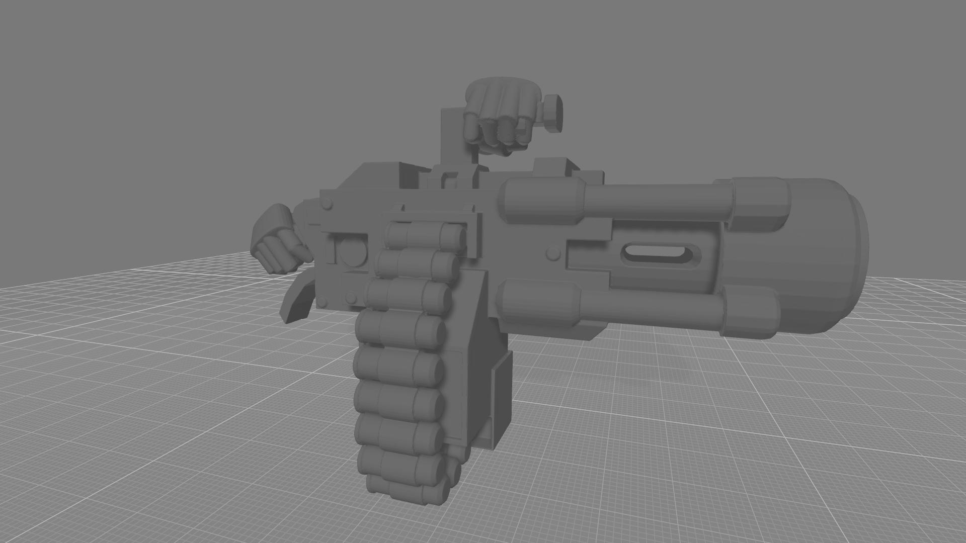 Fragcannon hands.jpg Download free STL file Destructive Toolbox of the Order of Alien Hunting Crusaders • 3D printer design, DropoutPraxis