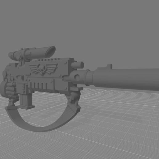 stalking bolter sling hand.jpg Download free STL file Destructive Toolbox of the Order of Alien Hunting Crusaders • 3D printer design, DropoutPraxis