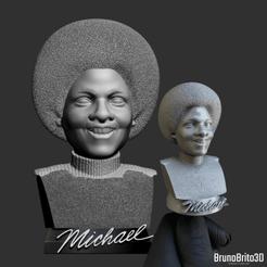 MJ criança inst.png Download OBJ file Michael Jackson Kid Bust Print Model • 3D print model, brunobrito3d