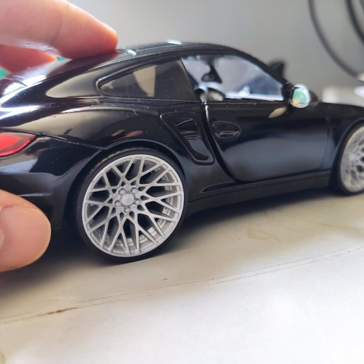 Télécharger fichier STL RQB Extra Deep wheel Front and rear with tires for diecast and RC • Modèle pour imprimante 3D, RC_MANIA_Diecast