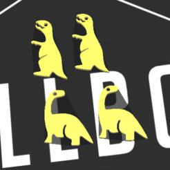 Screenshot_11.png Télécharger fichier STL Boucles d'oreilles en forme de dinosaure • Design imprimable en 3D, merjofre