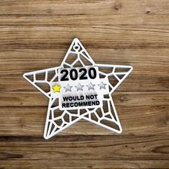 untitled.8.jpg Download STL file christmas 2020 voronoi star ornament • 3D printable design, socrates_z