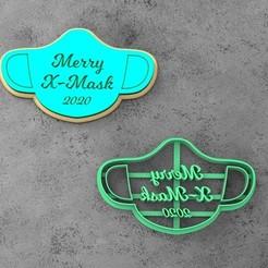 untitled.8.jpg Download STL file Christmas mask cookie cutter • 3D printable model, socrates_z