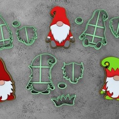 GNOME.jpg Download STL file COOKIE CUTTER CHRISTMAS GNOME SET • 3D printing object, socrates_z