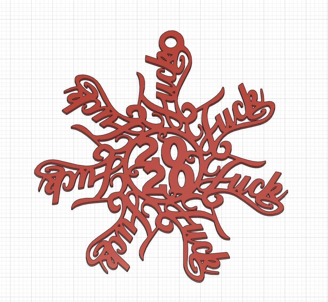 2.JPG Download STL file christmas fuck flake ornament • 3D printable object, socrates_z