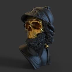 untitled.317.jpg Télécharger fichier OBJ Ancienne statue de crâne • Objet pour imprimante 3D, socrates_z