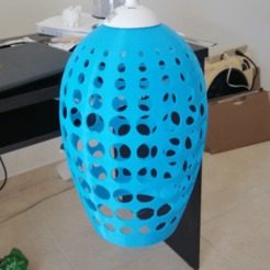 aaa.png Download OBJ file blue Lampshade  • Object to 3D print, torosalgadojt