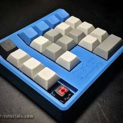 maker-tutorials.com-mechanical-gamepad-mx-cherry-switch.jpg Download free STL file Mechanical Gamepad/Macro Pad for Cherry MX or Gateron Switches • 3D printing model, Bendim