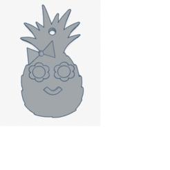 Pineapple Keychain.png Télécharger fichier STL gratuit Porte-clés ananas • Design à imprimer en 3D, Lisennexo