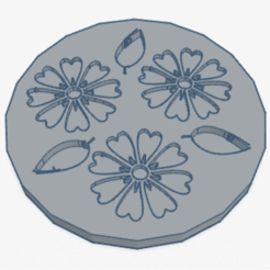 Coaster.png Download free STL file Coaster flower • 3D printable design, Lisennexo