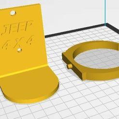 Porta vaso.JPG Download free STL file Jeep 4x4 cup holder • Template to 3D print, jorgeomaro