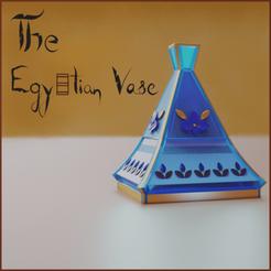 egyptian pot.png Download OBJ file EGYPTIAN VASE • Model to 3D print, khan3dart