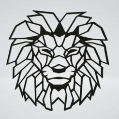 Lion Wall Sculpture 2D.png Download OBJ file Lion Wall Sculpture 2D • 3D printable model, Slashlist