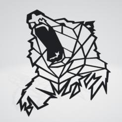 139604669_835777347270811_131177294788.png Download OBJ file Bear Wall Sculpture 2D v2 • Object to 3D print, Slashlist
