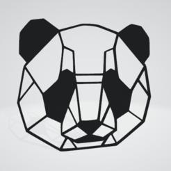 Panda Wall Sculpture 2D.png Download OBJ file Panda Wall Sculpture 2D • 3D print design, Slashlist