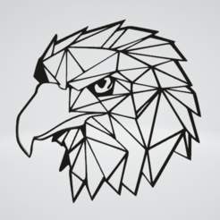 Eagle Wall Sculpture 2D.png Download OBJ file Eagle Wall Sculpture 2D • Object to 3D print, Slashlist