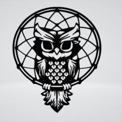 Owl Round Wall Sculpture 2D.png Download OBJ file Owl Round Wall Sculpture 2D • Object to 3D print, Slashlist